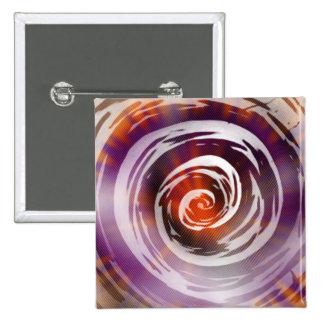 Arte hipnótico púrpura y anaranjado del remolino chapa cuadrada 5 cm