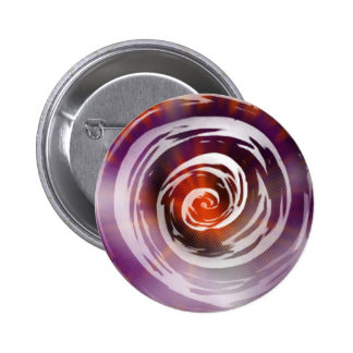 Arte hipnótico púrpura y anaranjado del remolino chapa redonda 5 cm