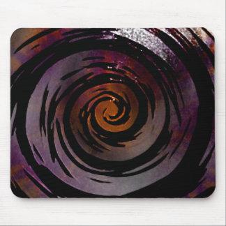 Arte hipnótico púrpura y negro del remolino alfombrilla de ratón