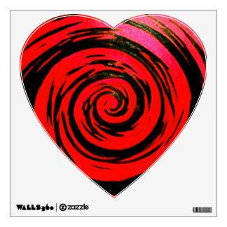 Arte hipnótico rojo y negro del remolino