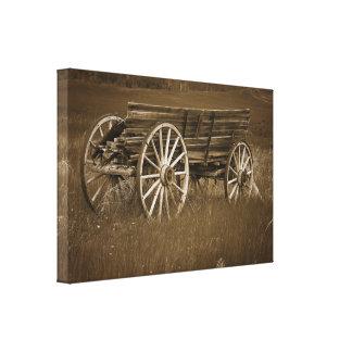 Arte histórico de la pared de la lona del carro #1 lona envuelta para galerias
