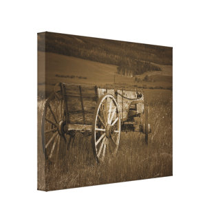Arte histórico de la pared de la lona del carro #2 impresión en lienzo estirada