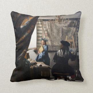 Arte holandés de la pintura de Vermeer del artista Cojines
