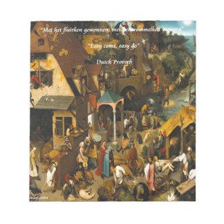 Arte holandés del siglo XVI y proverbio famoso Bloc