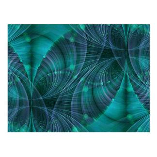 Arte I del fractal del Apophysis - azul Tarjetas Postales