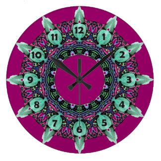 ARTE I del fractal del caleidoscopio de la cara de Reloj