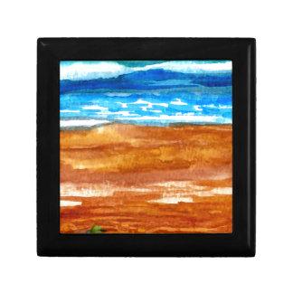 Arte ido de la resaca de la playa de los Seashells Caja De Recuerdo