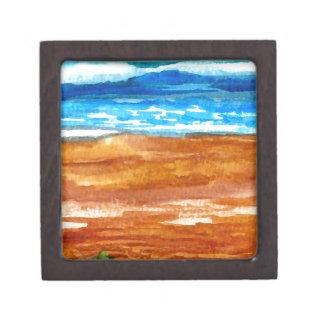 Arte ido de la resaca de la playa de los Seashells Cajas De Joyas De Calidad
