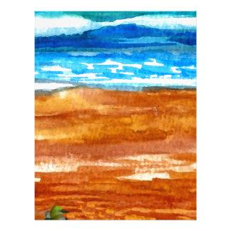 Arte ido de la resaca de la playa de los Seashells Plantilla De Membrete