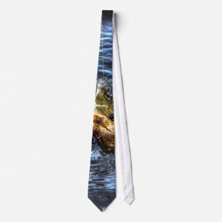 Arte ido pescados enganchado de Sun Fishin del Lep Corbata Personalizada