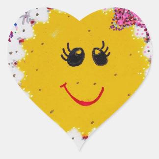 Arte Image-7715.jpg de la teja Pegatina En Forma De Corazón