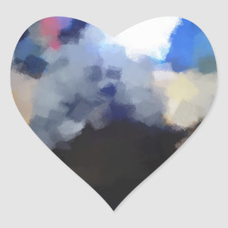 Arte impar extraño pegatina en forma de corazón