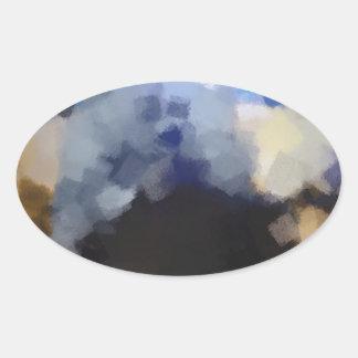 Arte impar extraño pegatina ovalada