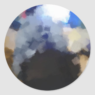 Arte impar extraño pegatina redonda