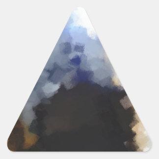 Arte impar extraño pegatina triangular