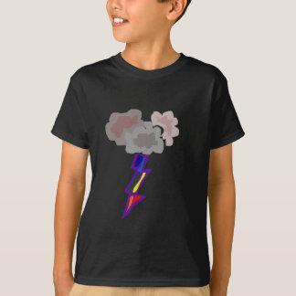 Arte impresionante de las nubes y del relámpago de remeras