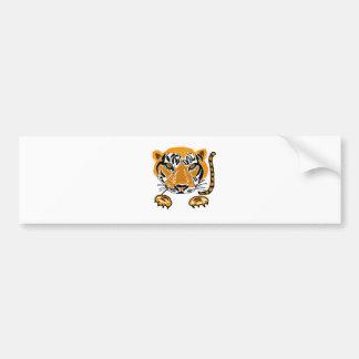 Arte impresionante del tigre del salto etiqueta de parachoque