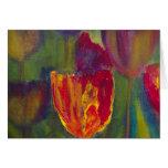 """Arte impresionista del """"tulipán majestuoso"""" felicitación"""