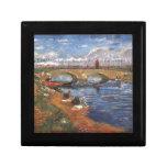 Arte impresionista del vintage del pintor de Van G Caja De Regalo