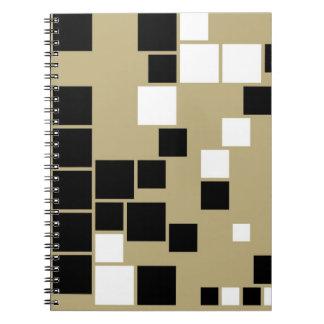 Arte inconsútil del modelo blanco y negro retro libretas espirales
