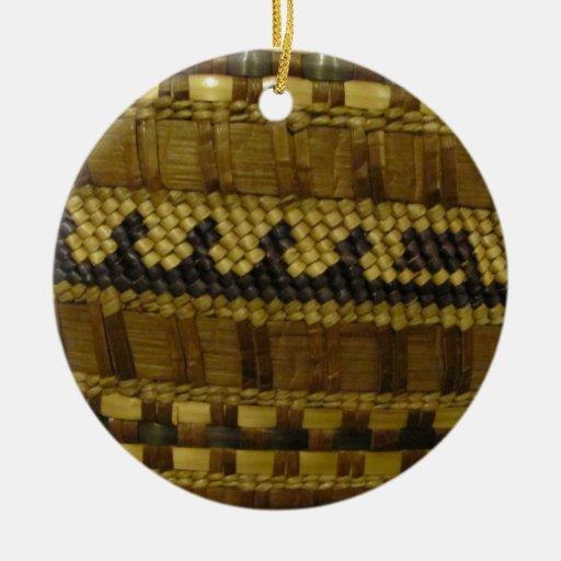 Arte indio tejido de la fibra de la costa del nano ornamentos de reyes