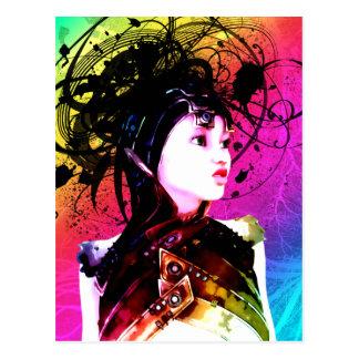 Arte industrial del surrealismo del miedo creativo tarjeta postal
