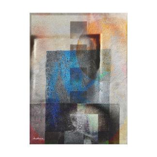 Arte industrial geométrico gris y azul 6 del Grung Impresión De Lienzo