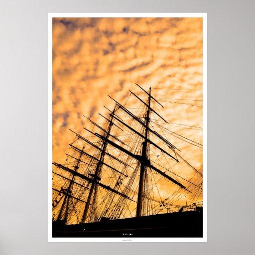 Arte inglés de la foto del velero de las podadoras poster