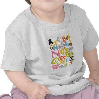 Arte inspirado - alfabeto camisetas
