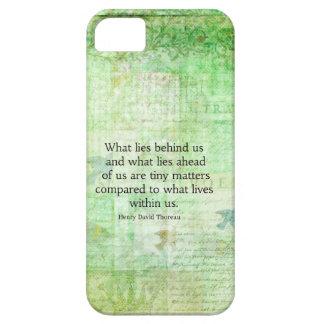 Arte inspirado de la cita de Henry David Thoreau iPhone 5 Fundas