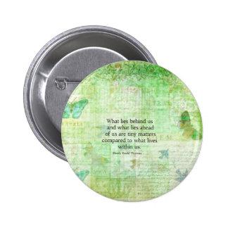 Arte inspirado de la cita de Henry David Thoreau Pin Redondo De 2 Pulgadas