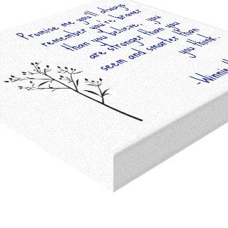 Arte inspirado del arte de la lona de la cita de W Impresión En Tela