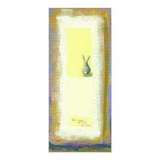 """Arte inspirado él debe saber el conejo de conejito invitación 4"""" x 9.25"""""""