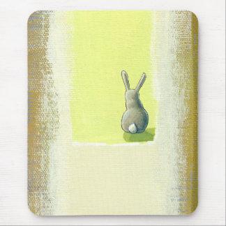 Arte inspirado él debe saber el conejo de conejito alfombrilla de ratón