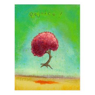 Arte inspirado feliz de la diversión de la pintura tarjeta postal