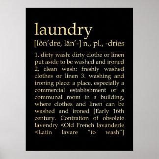 Arte inspirado - proceso del lavadero póster