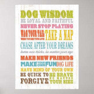Arte inspirado - sabiduría del perro impresiones