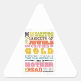 Arte inspirado - Strickland Gillilan Pegatina Triangular