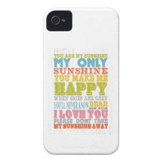 Arte inspirado - usted es mi sol Case-Mate iPhone 4 protector
