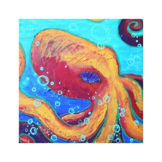 Arte intratable de la pared del pulpo impresiones en lienzo estiradas