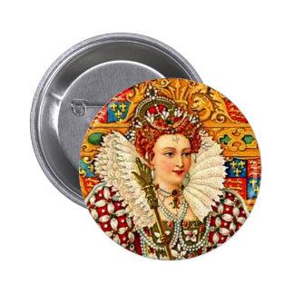 Arte isabelino de la reina de Shakespeare del traj Pin