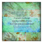 Arte isabelino de Shakespeare de la cita divertida