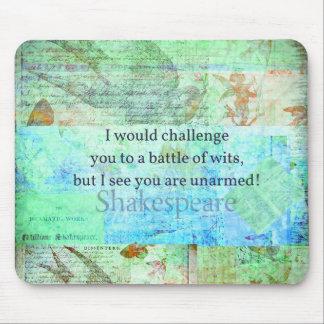 Arte isabelino de Shakespeare de la cita divertida Tapete De Ratón