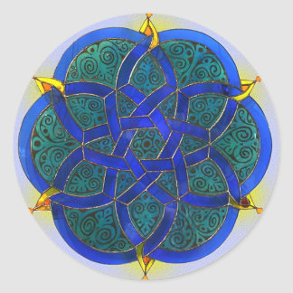 Arte islámico pegatina redonda