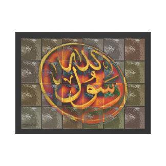 Arte islámico por sonrisas musulmanes impresion en lona