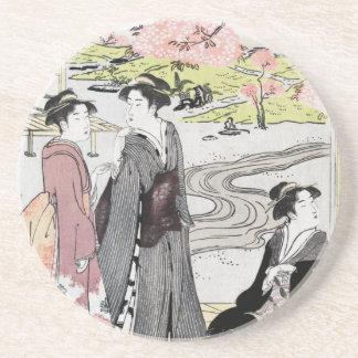 Arte japonés 1 del vintage posavaso para bebida