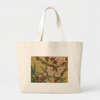Arte japonés asiático de las flores de cerezo bolsa