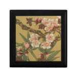 Arte japonés asiático de las flores de cerezo caja de recuerdo
