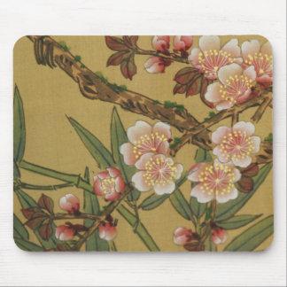 Arte japonés asiático de las flores de cerezo mousepads