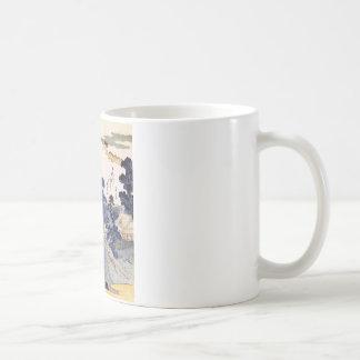 Arte japonés azul del vintage taza